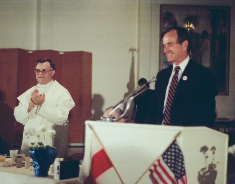 Prezydent George H. W. Bush w Amerykańskiej Częstochowie